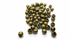 100 pieces 6mm Bronze Tone Metal Spacer Beads - A6762