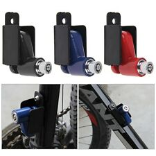 Security Anti-theft Motorcycle Cycle Bike Disc Brake Lock Alarm+2Keys Red Frame