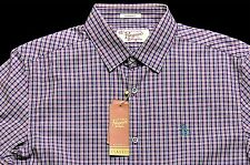 Men's PENGUIN Purple Green Plaid Shirt Small S NWT NEW $89+ Awesome!