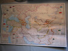 CASPIAN SEA REGION MAP PHYSICAL & CULTURAL National Geographic May 1999 MINT
