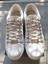 MSRP $545 DSQUARED2 White Monochrome Sneakers Shoes Size 12 Made in ITALY