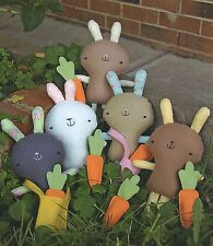 FUNNY BUNNY  - Sewing Craft PATTERN - Soft Toy Felt Rag Doll Bear Rabbit