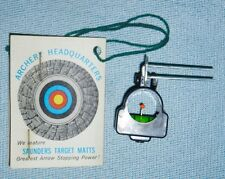 "NEW Vintage Replacement ""SIGHT 'N LEVEL"" by SAUNDERS for Classic Target Archery"