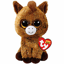 "Ty Beanie Boos ~ HARRIET the 6"" Horse ~ Stuffed Plush Toy (NEW) 2017 PRE-SALE"