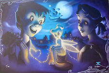 DISNEY TINKER BELL Hand Signed by NOAH Stretched Giclee on Canvas TINK VS WENDY