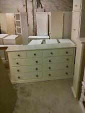 OLD MILL FURNITURE AYLESBURY 4+6 DRAWER CHEST CREAM/MED OAK NO FLAT PACKS