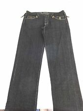 LR GEANS LRG MENS 100% COTTON DARK WASH WIDE LEG EMBELLISHED JEANS SIZE 44 X 37
