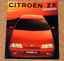 1991 CITROEN ZX  ACCESSORIES Brochure -Alloys, Body Styling, Cellular Phones etc