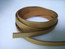 1Yard 10mm Gold Flat PU Suede Leather Cord String Lace Tong For Jewellery Craft