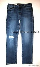 KUT FROM THE KLOTH Reese Ankle Straight Leg JEANS Womens 4 Faded Denim RIPPED
