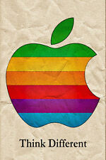 ASTRATTO Steve Jobs Poster APPLE MAC iPhone LOGO POSTER pensare diversi POSTER