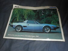 1980 Fiat X19 Mid Engine Sports Car USA Market Original Brochure Prospekt
