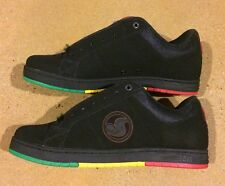 DVS Mastiff Black Rasta Size 11.5 SB BMX DC MOTO Skate Shoes Sneakers