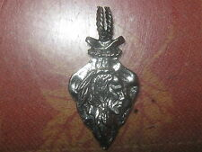 ANTIQUE STYLE WESTERN PEWTER AMERICAN INDIAN ARROWHEAD CHARM PENDANT NECKLACE