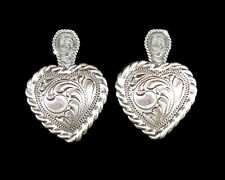 Western Cowgirl Jewelry Antique Silver ~Heart~ Concho Post Earrings Kit