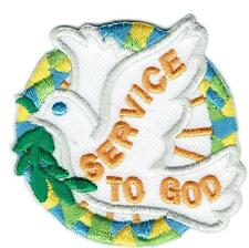 Girl Boy Cub SERVICE TO GOD Church Dove Fun Patches Crests Badges SCOUTS GUIDE