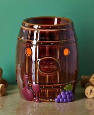 Wine Barrel Electric Candle Wax Tart Warmer Burner Kitchen Home Decor