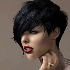 1Pc Women's New Design Heat Short Black Straight Wig Cosplay Party Full Hair Wig