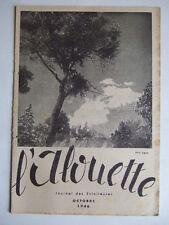 L'ALOUETTE OCTOBRE 1946 JOURNAL DES ECLAIREUSES FFE SCOUTISME BADEN-POWELL