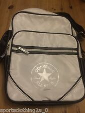 CONVERSE ALL STAR  CHUCK TAYLOR. Shoulder  Bag. WHITE /BLACK/SILVER . CONVERSE