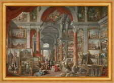 Picture gallery with views of modern rome pannini galerie de peinture B a3 02116