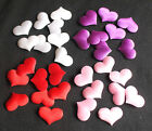 100 Satin 3D Fabric Love Hearts Wedding table scatter decorations Scrapbooking