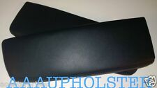FITS 2005-2010 Acura RL Real Leather BLACK Center Console Lids 2X Armrest Covers