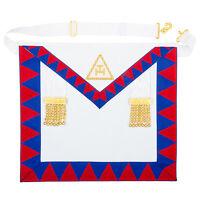 Masonic Royal Arch Companions Lambskin Apron - Embroidered Taus Chapter Regalia