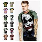 New Mens 3d print Summer Short Sleeve Casual Slim Fit T-Shirts Graphic Tee Shirt