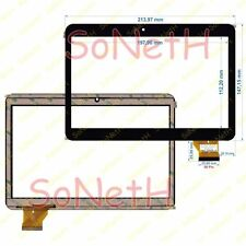 "Vetro Touch screen Digitizer 9,0"" Pmedia Pad925 3G Tablet PC Nero"