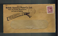 1945 Vancouver BC Canada British Paint Company Advertising Cover Window Envelope