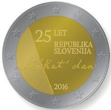ESLOVENIA: 2 euro 2016 S/C 25 aniversario INDEPENDENCIA Slovenia