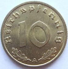TOP! 10 Pf 1936 A in BANKFRISCH / STEMPELGLANZ SELTEN !!!