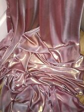 "1 MTR DUSTY PINK/GOLD SHIMMER CHIFFON FABRIC...60"" WIDE"