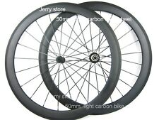 only 1390g!Ultra Light carbon wheels 50mm clincher carbon bike road wheelset700C