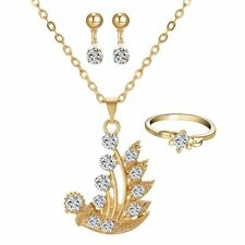 "China Wishes ""Smooth Sailing"" Lucky Jewelry Set Ship 18K Gold gp Necklace"