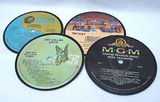 Recycled Record Drink Coasters - Set of 4