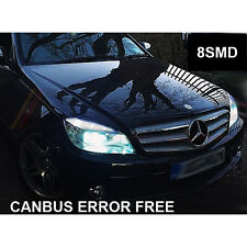 MERCEDES C-CLASS W204 XENON COOL WHITE LED SIDELIGHT BULBS ERROR x4 BULBS