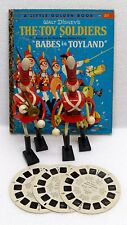 1961 MARX DISNEY BABES IN TOYLAND BENDABLE TOY SOLDIERS + BOOK VIEW-MASTER REEL