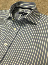 GORGEOUS TOMMY HILFIGER BABY BLUE BOLD BENGAL STRIPE SHIRT 15.5 CUTAWAY COLLAR