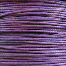 Cordon Coton Ciré 0,8mm – 5 Mètres Lavande pour Colliers et Bracelets de perles
