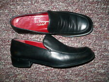 Women's Black Leather Loafers SALVATORE FERRAGAMO Sz 5,  Made in Italy