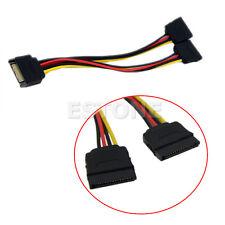 20cm SATA Puissance T/Y Splitter Extension Câble Adaptateur