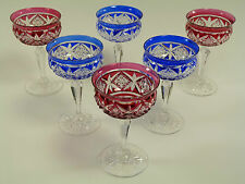 TUDOR Crystal - Coloured Cocktail Glasses - Set of 6