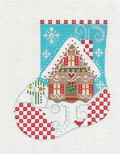 SP.ORDER ~ Danji Gingerbread House Mini Stocking handpainted Needlepoint Canvas