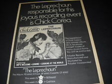 CHICK COREA The Leprechaun Is Responsible For This 1976 PROMO POSTER AD mint