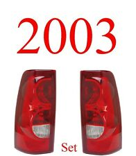 03 Chevy Tail Light Set, Silverado, 2003 Only, Drivers Side Both Sides Included!