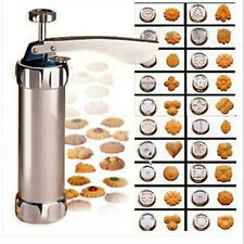 ILJ Stainless Steel Biscuit Cookie Press Maker Machine Cake Decorating Tools
