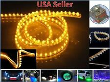 2 Pcs 24cm 24 LEDs Flexible PVC Strip Light Waterproof Yellow