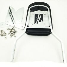 Flame Backrest Sissy Bar with Pad For Honda Shadow Ace 1100 Tourer Sabre Chrome